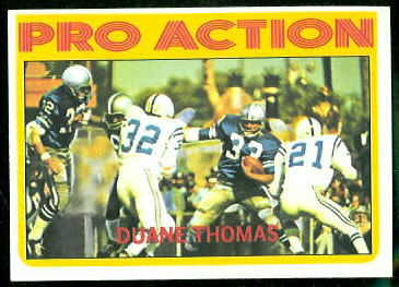 Duane Thomas Pro Action 1972 Topps football card