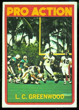 L.C. Greenwood Pro Action 1972 Topps football card