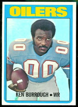 Ken Burrough 1972 Topps football card