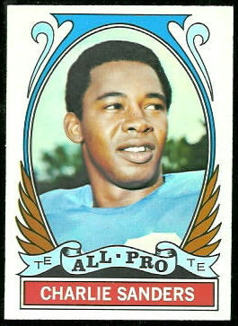 Charlie Sanders All-Pro 1972 Topps football card