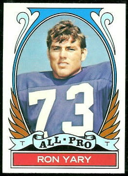 Ron Yary All-Pro 1972 Topps football card