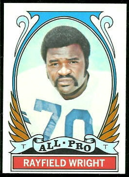 Rayfield Wright All-Pro 1972 Topps football card