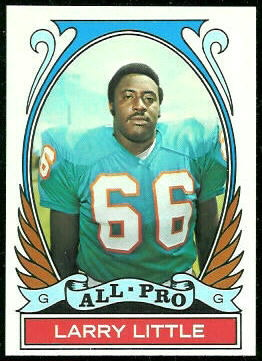 Larry Little All-Pro 1972 Topps football card