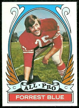 Forrest Blue All-Pro 1972 Topps football card