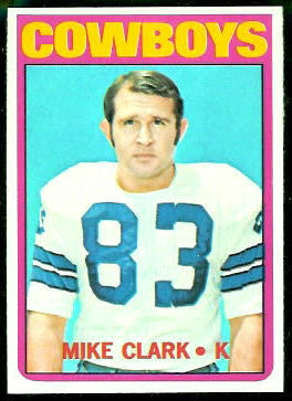 Mike Clark 1972 Topps football card