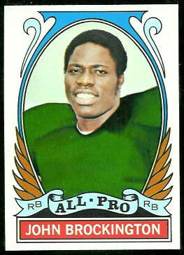 John Brockington All-Pro 1972 Topps football card