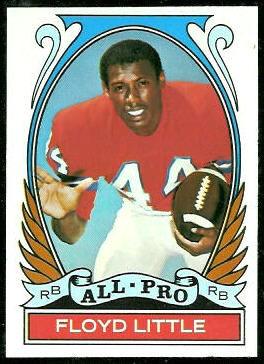 Floyd Little All-Pro 1972 Topps football card