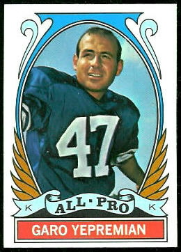 Garo Yepremian All-Pro 1972 Topps football card