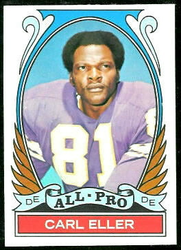 Carl Eller All-Pro 1972 Topps football card