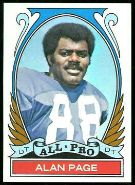 Alan Page All-Pro 1972 Topps football card