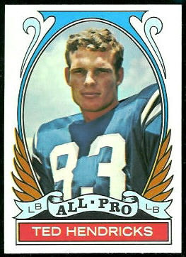 Ted Hendricks All-Pro 1972 Topps football card