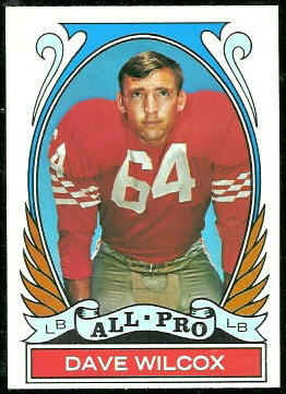 Dave Wilcox All-Pro 1972 Topps football card