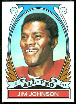 Jim Johnson All-Pro 1972 Topps football card