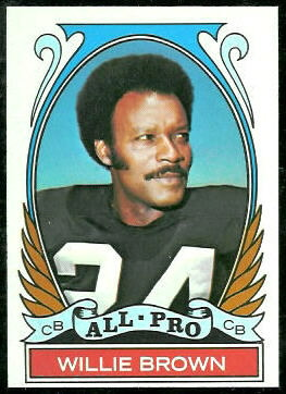 Willie Brown All-Pro 1972 Topps football card