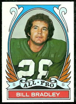 Bill Bradley All-Pro 1972 Topps football card