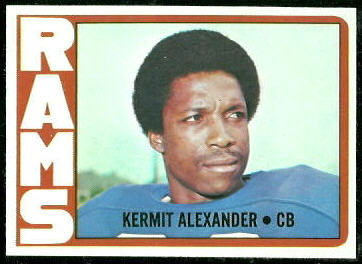 Kermit Alexander 1972 Topps football card