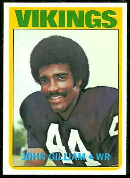 John Gilliam 1972 Topps football card