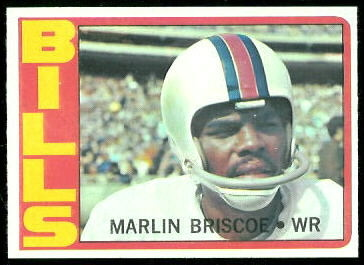 Marlin Briscoe 1972 Topps football card