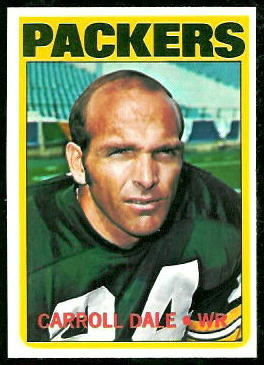 Carroll Dale 1972 Topps football card