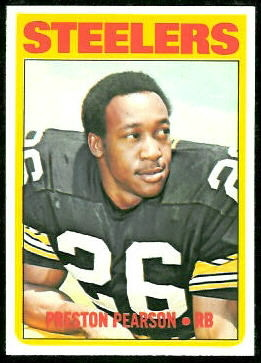 Preston Pearson 1972 Topps football card