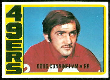 Doug Cunningham 1972 Topps football card