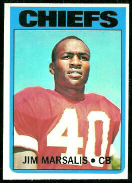 Jim Marsalis 1972 Topps football card