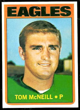 Tom McNeill 1972 Topps football card