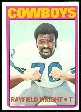 Rayfield Wright 1972 Topps football card