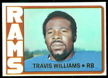 Travis Williams 1972 Topps football card