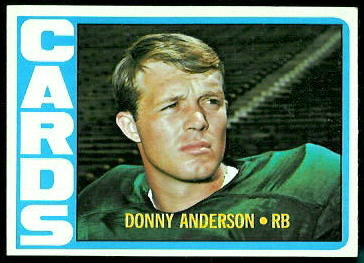 Donny Anderson 1972 Topps football card