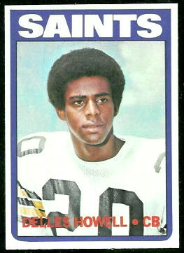 Delles Howell 1972 Topps football card