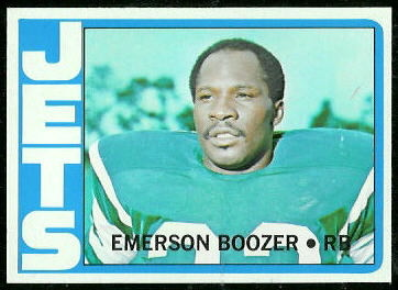 Emerson Boozer 1972 Topps football card