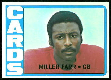 Miller Farr 1972 Topps football card