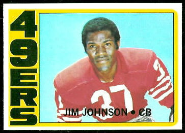 Jim Johnson 1972 Topps football card