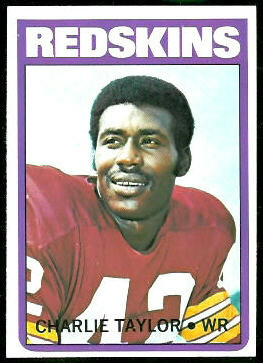 Charley Taylor 1972 Topps football card