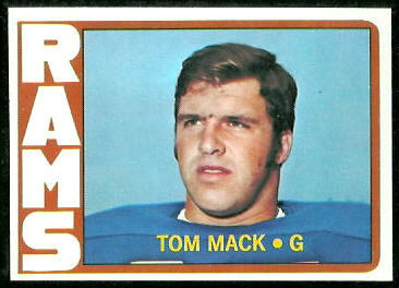 Tom Mack 1972 Topps football card