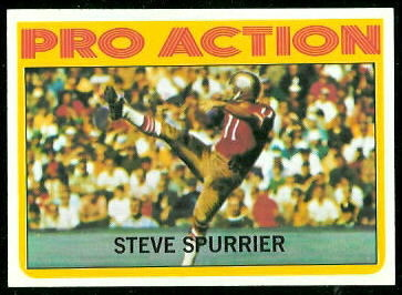 Steve Spurrier In Action 1972 Topps football card