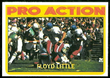 Floyd Little In Action 1972 Topps football card