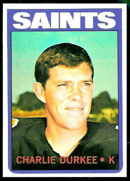 Charlie Durkee 1972 Topps football card
