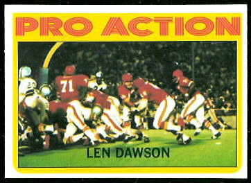 Len Dawson In Action 1972 Topps football card