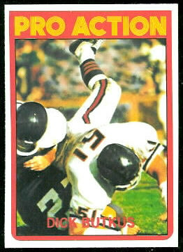 Dick Butkus In Action 1972 Topps football card