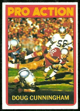 Doug Cunningham In Action 1972 Topps football card