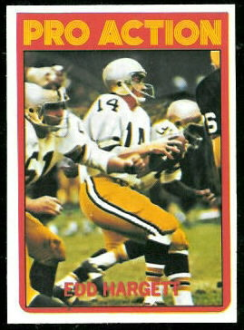 Edd Hargett In Action 1972 Topps football card