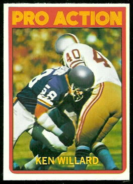 Ken Willard In Action 1972 Topps football card