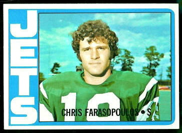 Chris Farasopoulos 1972 Topps football card