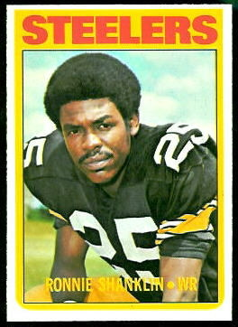Ron Shanklin 1972 Topps football card