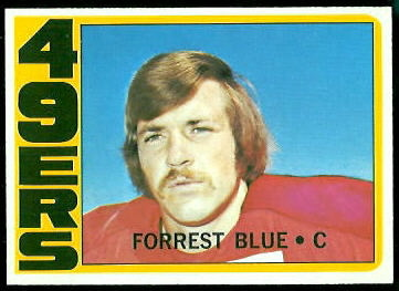 Forrest Blue 1972 Topps football card