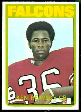 Ken Reaves 1972 Topps football card