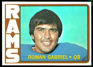 Roman Gabriel 1972 Topps football card