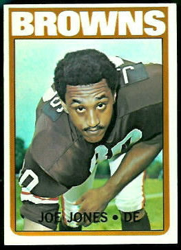 Joe Jones 1972 Topps football card